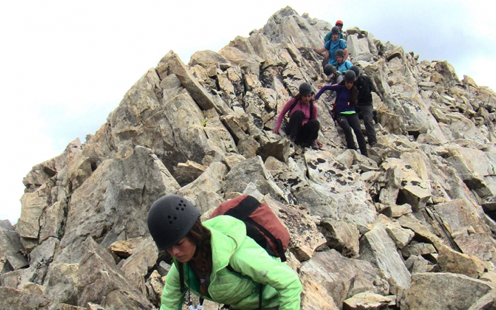 mountaineering camp for teens