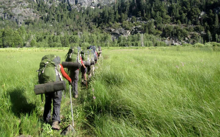 adults only backpacking adventure trip in yosemite