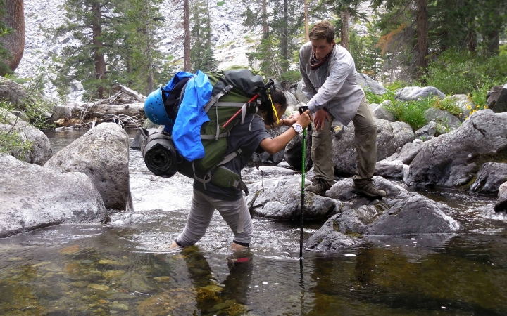 adults unplug on outdoor trip in yosemite