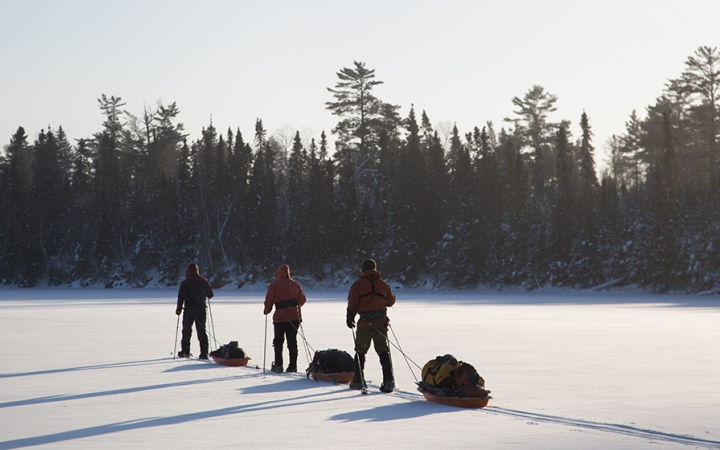 boundary waters dog sledding