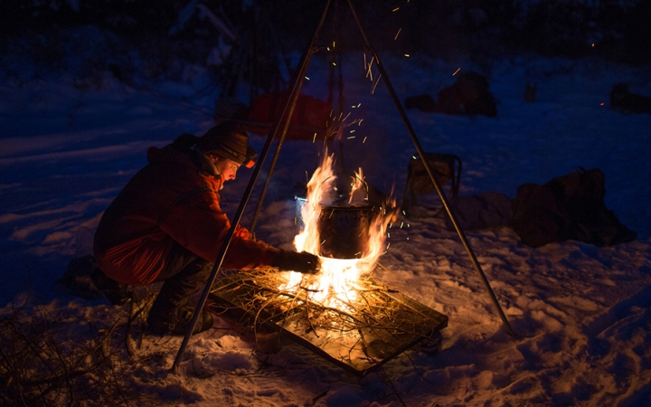 learn to winter camp in the boundary waters