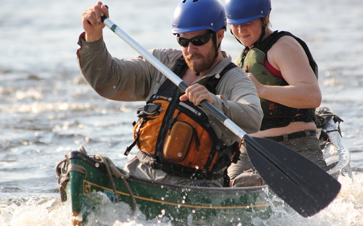 learn whitewater canoeing