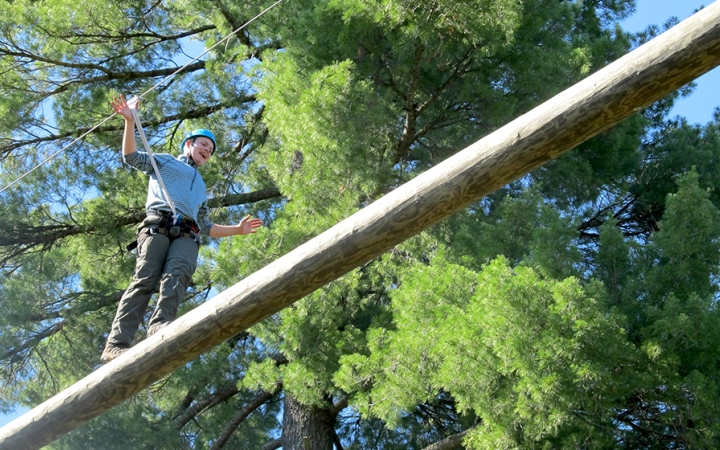 ropes course for teens