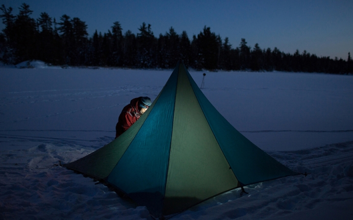 winter camping course in the boundary waters