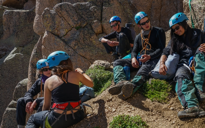 teens learn how to rock climb in colorado