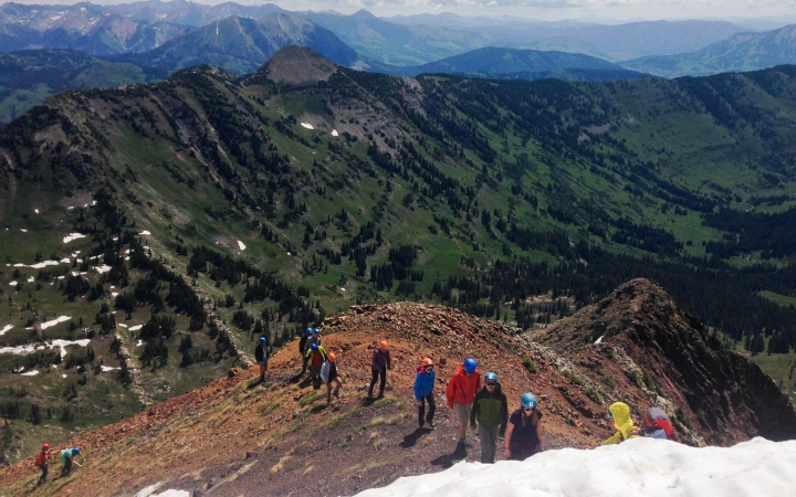 mountaineering wilderness expedition in colorado
