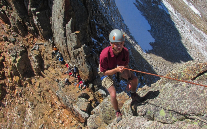 rock climbing expedition in colorado