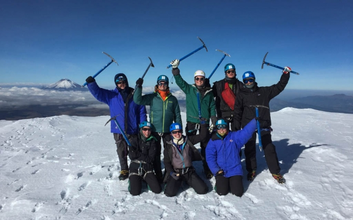mountaineering program in south america for young adults