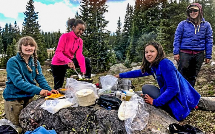 summer backpacking trip for teen girls in colorado