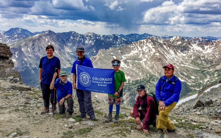 backpacking adventure program for teens in the rockies