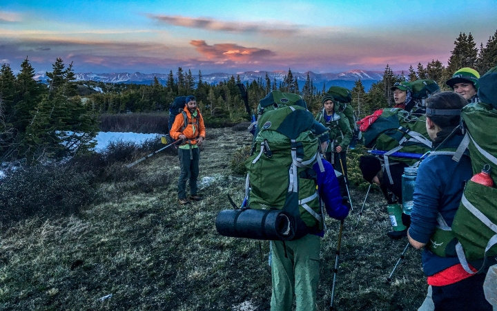 backpacking instruction for teens in colorado