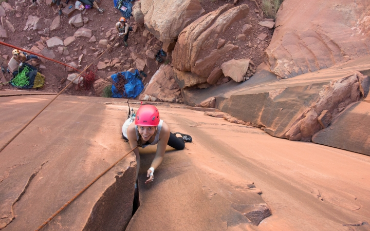 rock climbing expedition with outdoor leadership school