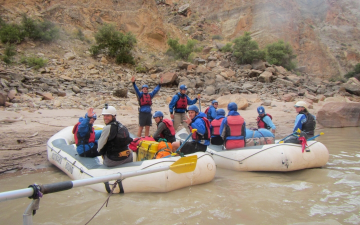 Desert Southwest rafting students