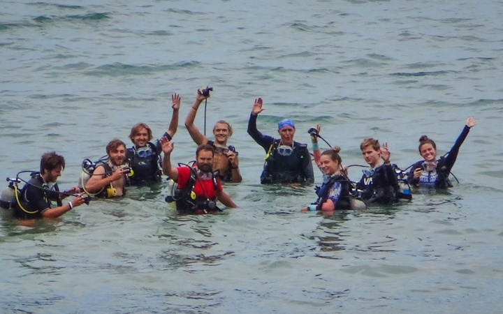 earn SCUBA certification with outward bound