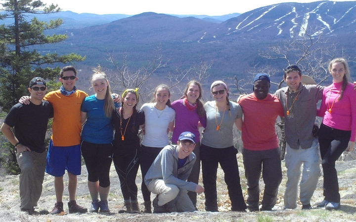 backpacking trip for young adults in maine