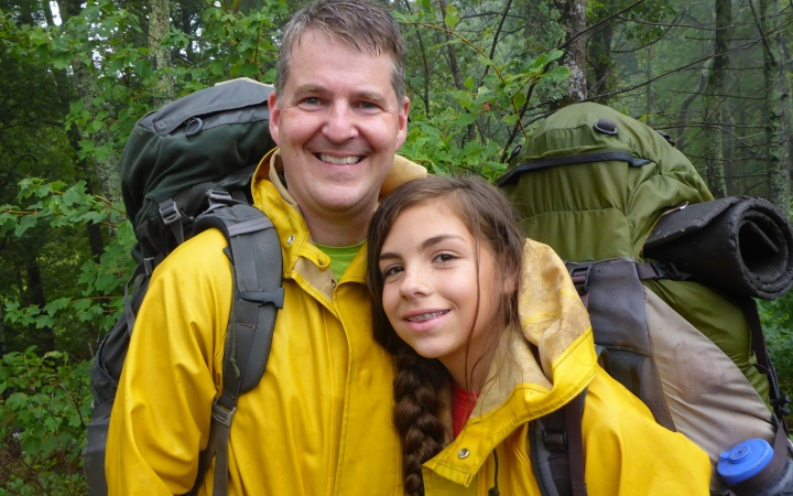 father daughter backpacking trip