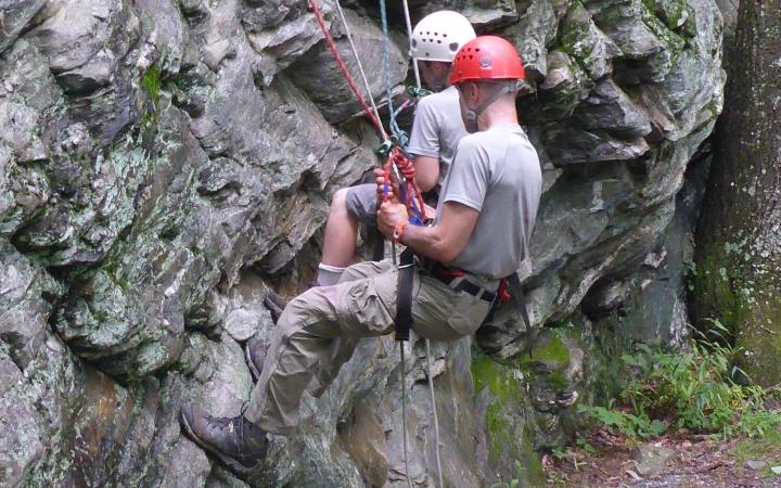 rock climbing trip for families in north carolina
