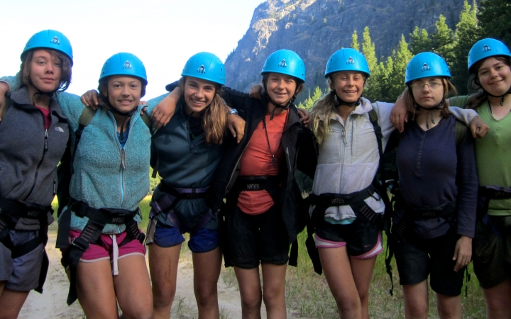 rock climbing adventure for girls