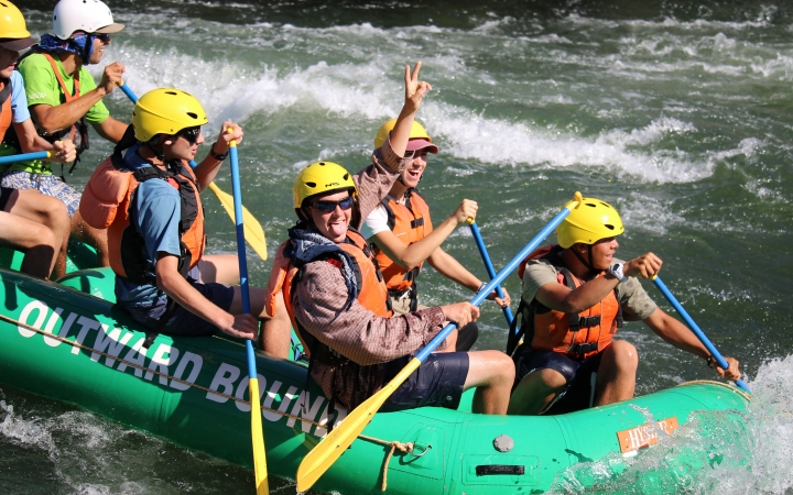 gap year rafting trip