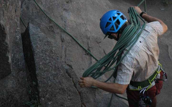 rock climbing instruction