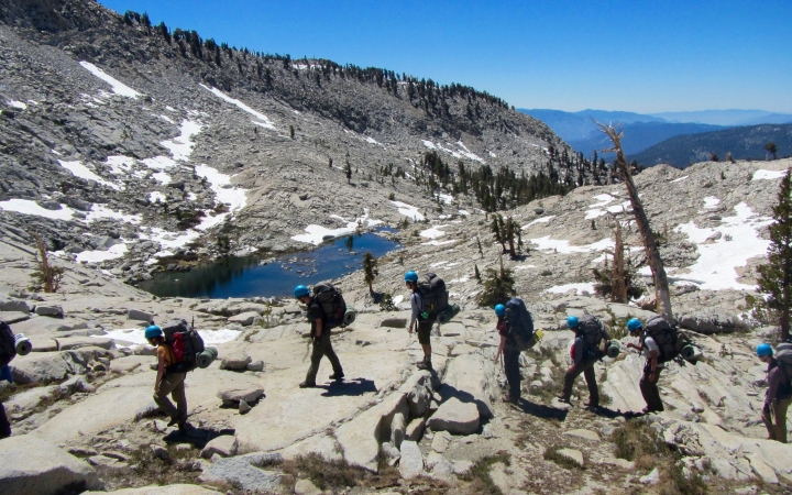 backpacking trip for young adults in california