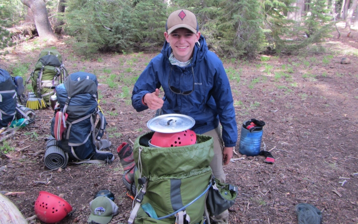 backpacking expedition for teen boys in yosemite