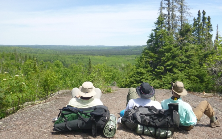 canadian border backpacking