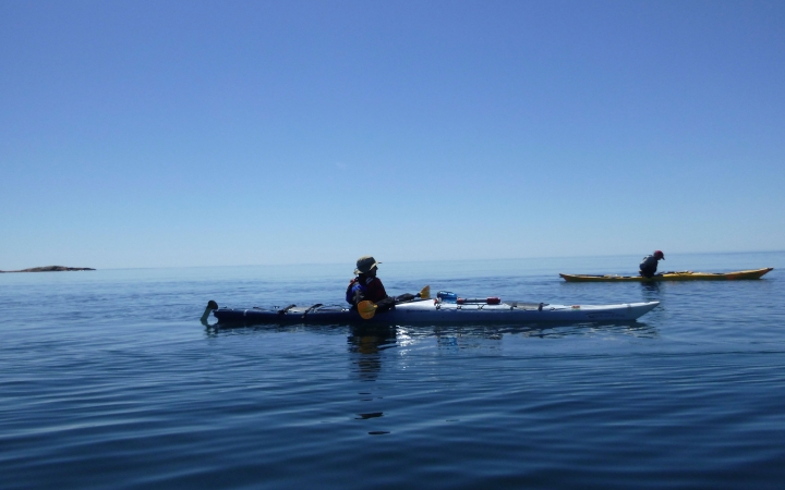 canadian border sea kayaking