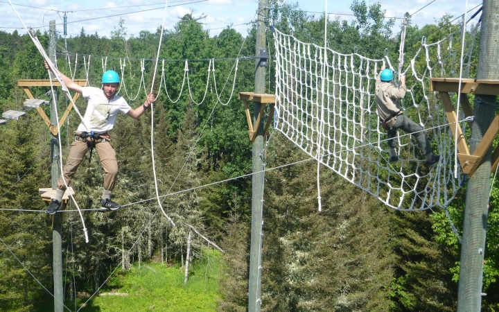 boundary waters ropes course