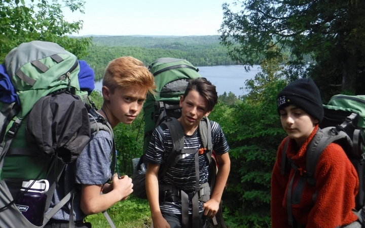Lake Superior student backpacking trip