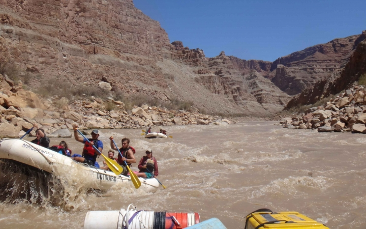 rafting expedition for young adults to the southwest