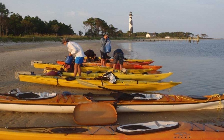 adults only sea kayaking trip