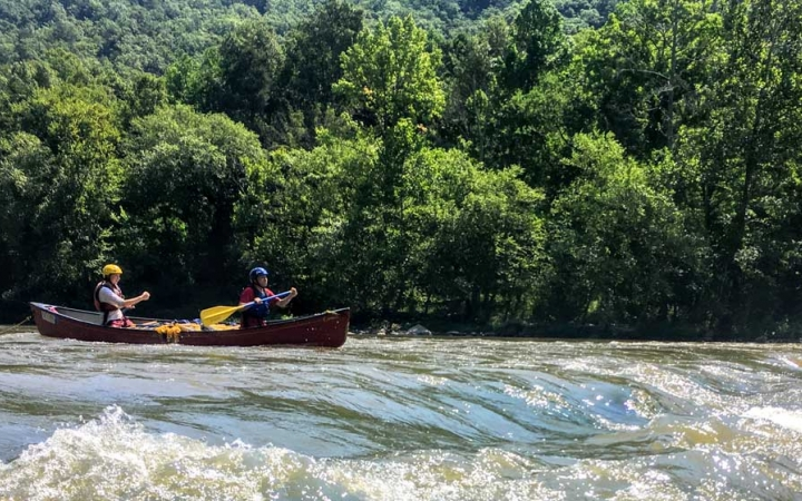 whitewater canoeing trip for adults