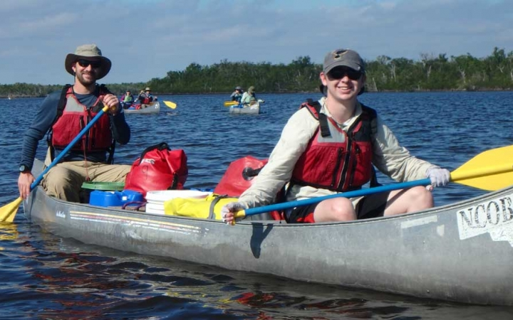 outdoor education program for families canoeing outward bound