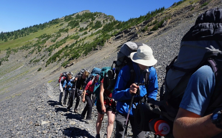 backpacking adventure for teens in washington