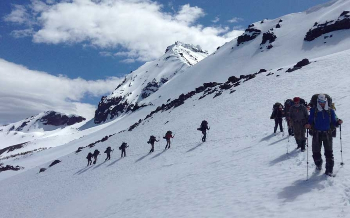 mountaineering on outdoor leadership course