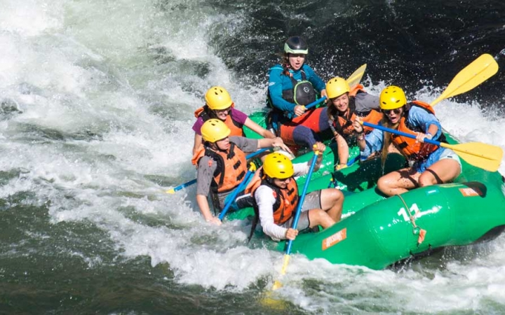 summer rafting trip for teens