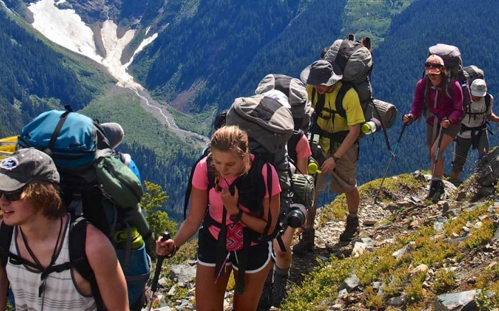 backpacking camp for teens in pacific northwest