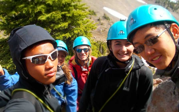 teens mountaineering course in oregon