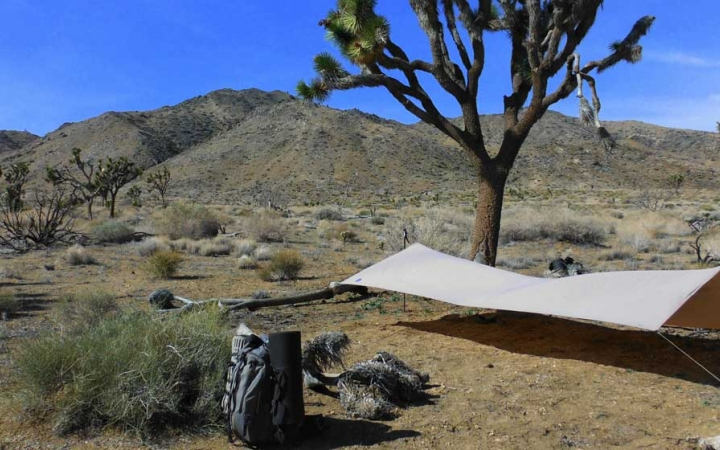 backpacking course for teens in joshua tree