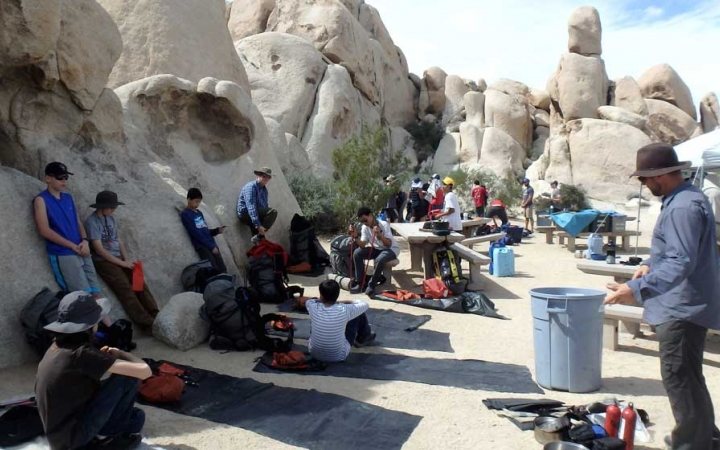 camping for teens in joshua tree
