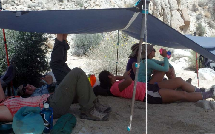 backpacking camp for teens in joshua tree