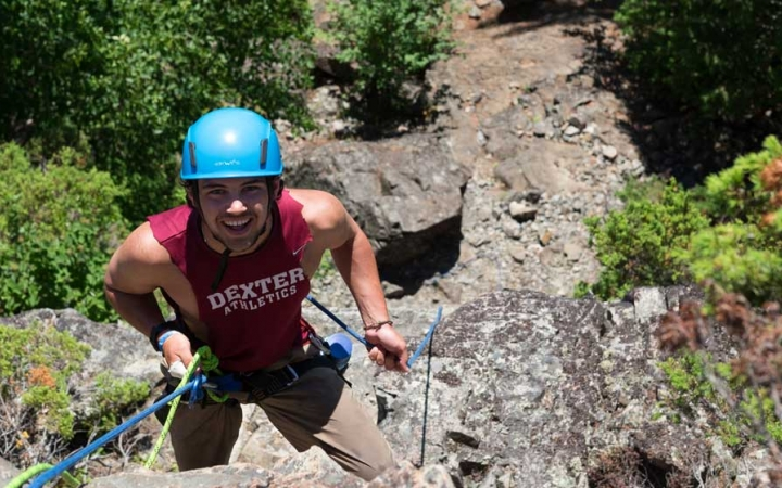 learn rock climbing skills on gap year