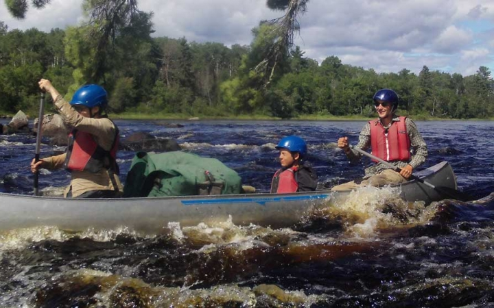 learn whitewater canoeing skills on gap year course