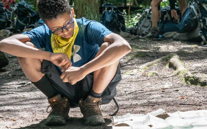 backpacking camp for teens in baltimore