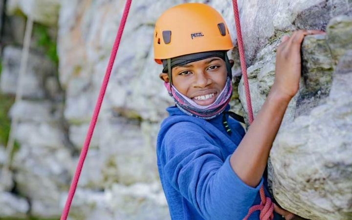 rock climbing camp for teens in baltimore