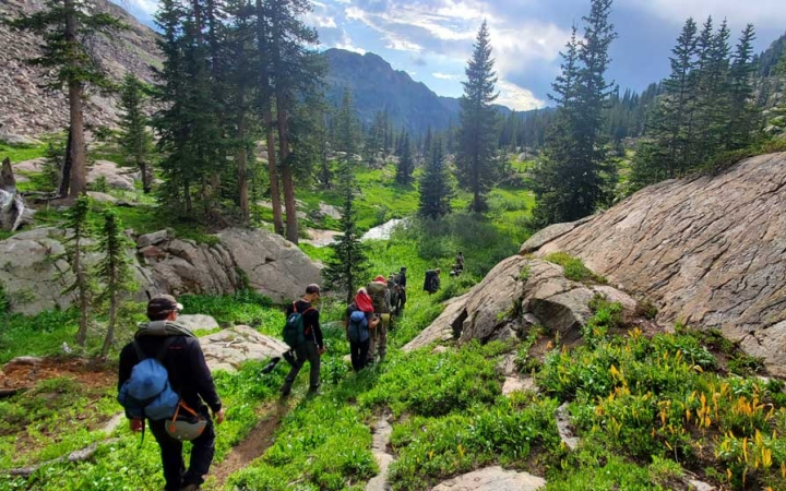 backpacking trip for teens in colorado rockies