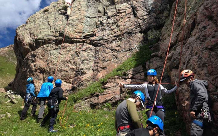 rock climbing trip for teens in the colorado rockies