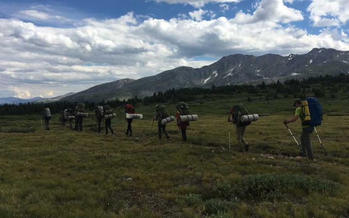 backpacking trip in the colorado rockies for young adults