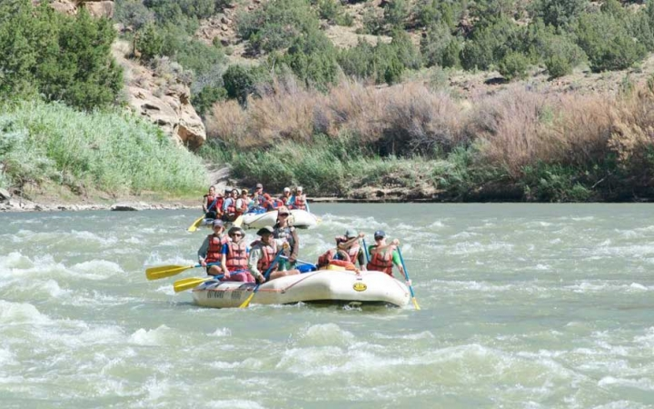 rafting trip for young adults